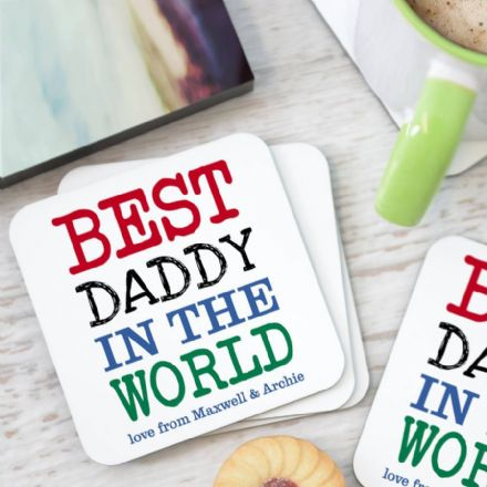 Personalised 'Best Daddy' Coasters